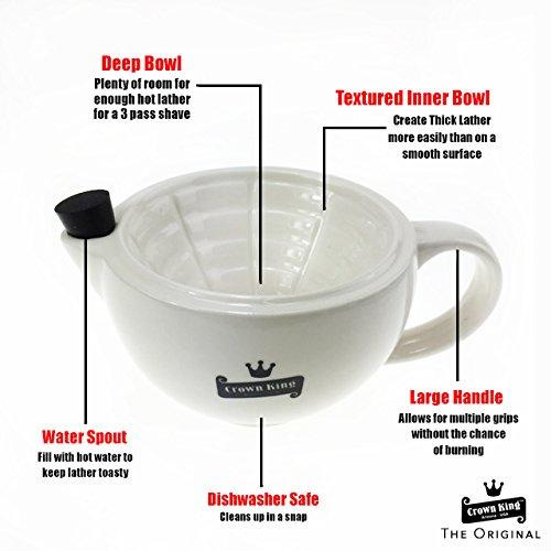 Crown king shaving bowl 6